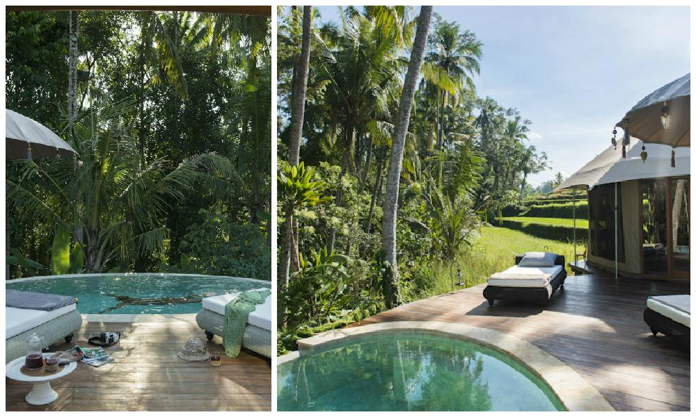 glamping-sandat-infinity plunge pool collage