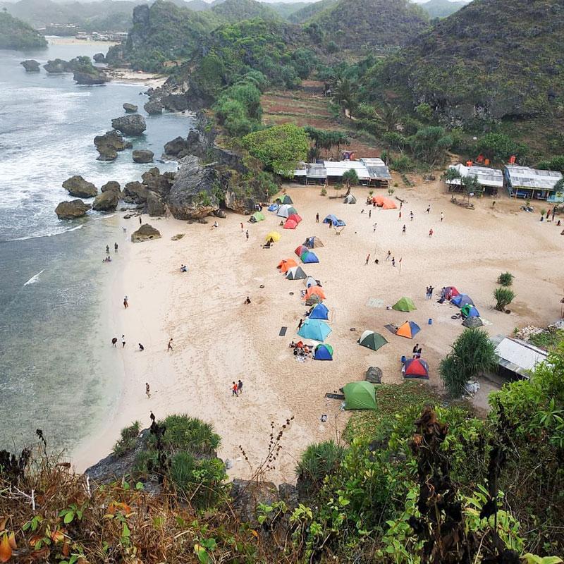 18 Pantai Tersembunyi Di Gunung Kidul, Jogja Dengan