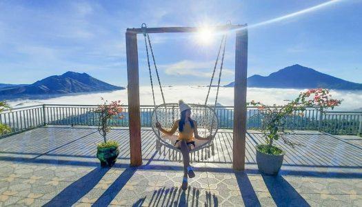 Tempat ngopi di Bali dengan view danau, gunung, dan lautan awan – La Vista Coffee & Roastery