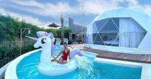 Glamping futuristik di Bali dengan kolam renang pribadi! - Coconut Galaxy Villas