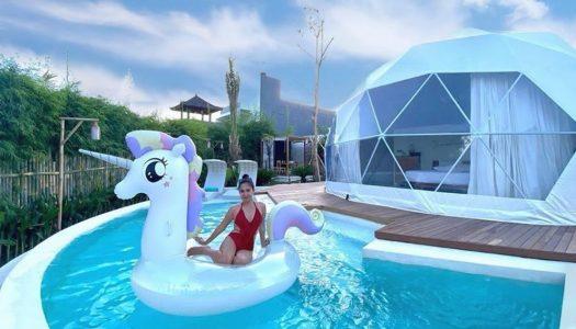 Glamping futuristik di Bali dengan kolam renang pribadi! – Coconut Galaxy Villas