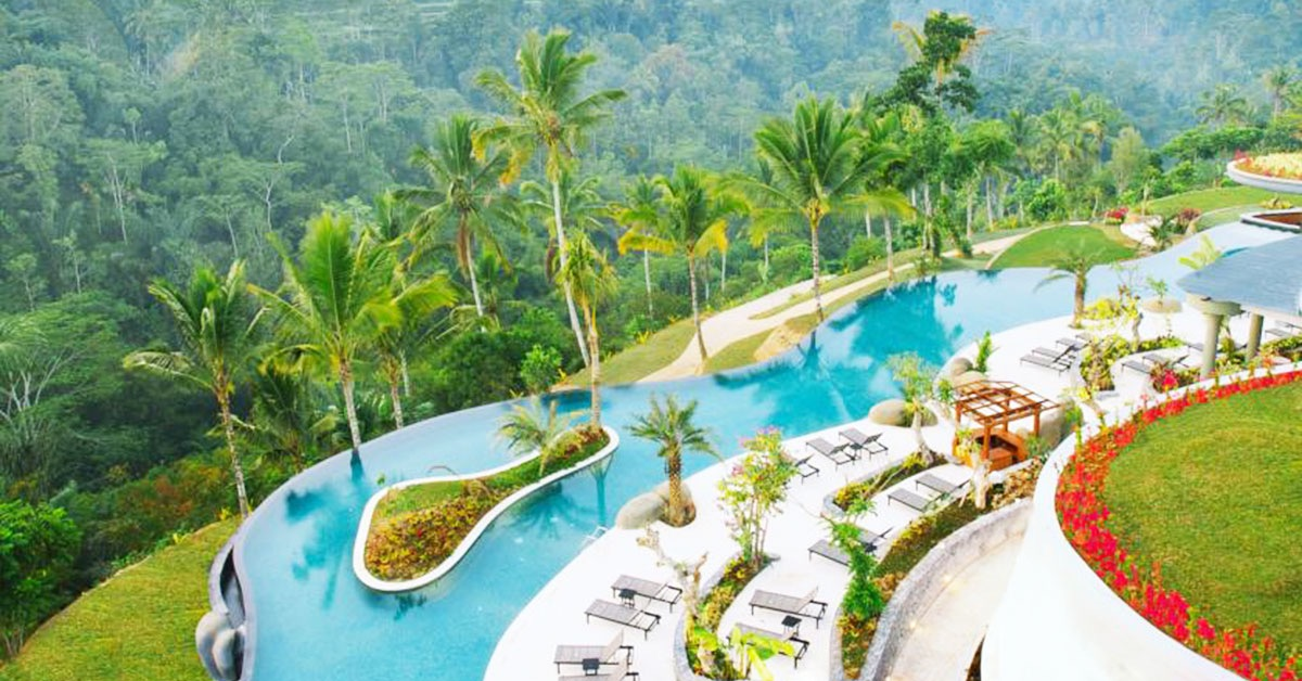 15 bali resorts with unique infinity pools and gorgeous views for Design boutique hotel ubud