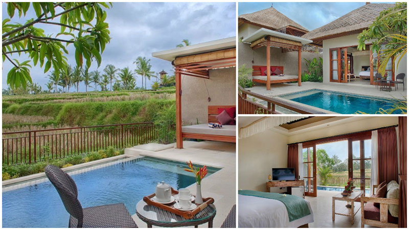 Bali Luxury 2 Bedroom Villas ... one-bedroom villa features a private pool with luscious views of the  surrounding Bali greenery, with plenty of room to relax and enjoy an  after-swim nap ...