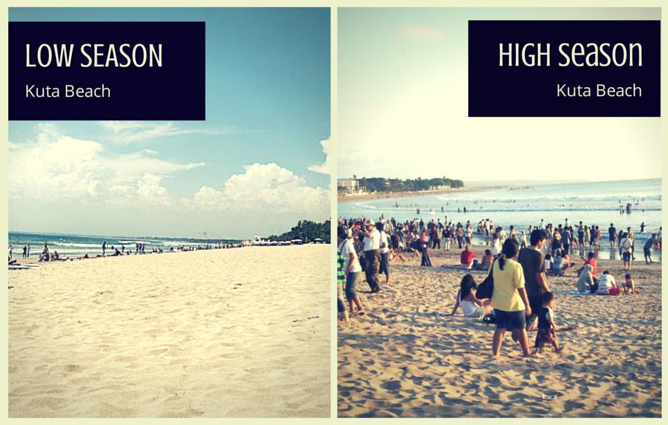 kuta beach low high season